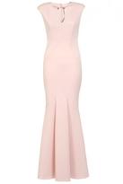 Quiz Nude Bodycon Keyhole Fishtail Maxi Dress