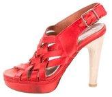 Lanvin Satin Woven Sandals