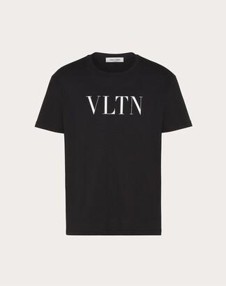 Valentino Vltn T-shirt Man Black Cotton 100% L