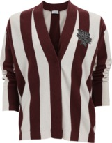 Brunello Cucinelli Cricket Stripes Cardigan