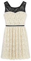 Speechless Pleather-and-Lace Dress - Girls 6-16