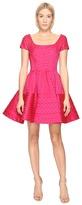 Zac Posen Party Jacquard Cap Sleeve Dress Women's Dress
