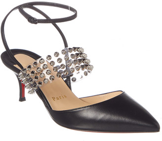 Christian Louboutin Levita 55 Leather & Pvc Pump