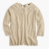 J.Crew Italian cashmere tie- back sweater