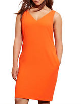 Lauren Ralph Lauren Plus Crepe Sleeveless Shift Dress