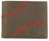 Rawlings Sports Accessories Men's Home Run Bifold Leather Wallet - Brown