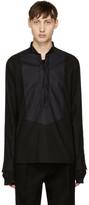Balmain Black Lace-up Shirt