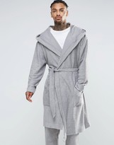 Asos Loungewear Oversize Textured Hooded Dressing Gown