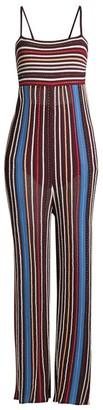 M Missoni Striped Knit Strappy Wide-Leg Jumpsuit