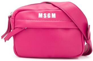 Msgm Kids Printed Logo Cross Body Bag