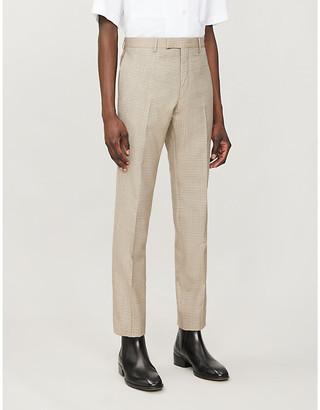 Sandro Havana plaid slim-fit tapered wool trousers