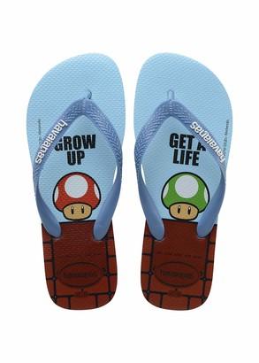 Havaianas Men's Mario Bros Flip Flop Sandal Blue Splash 13 M US