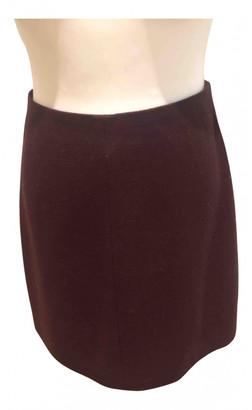 Carven Burgundy Wool Skirts