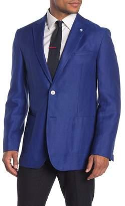 Ben Sherman Bright Blue Two Button Notch Lapel Trim Fit Blazer