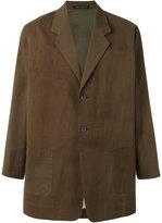 Yohji Yamamoto Yohji sketch two-button blazer - men - Cotton/Cupro - 1