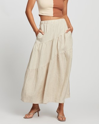 SOVERE - Women's Neutrals Maxi skirts - Evolve Maxi - Size 6 at The Iconic
