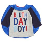 Mud Pie Toddler Boy's Birthday Boy T-Shirt & Cape Set