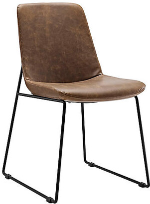 One Kings Lane Danon Side Chair - Brown - Black, Brown
