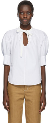 Chloé White Puff Sleeve Blouse