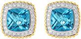 Lagos Prism Blue Topaz & Diamond Earrings