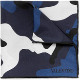 Valentino - Double-sided Camouflage-print Silk-twill Pocket Square