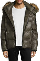 SAM. Men's Stowe Faux Fur-Trimmed Quilted Puffer Jacket