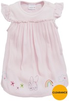 Ladybird Baby Girls Woven Dress With Integrated Bodysuit