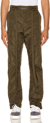 Fear Of God Nylon Cargo Pant in Olive Green | FWRD