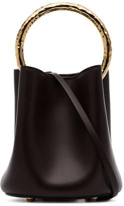 Marni Black Pannier Leather Bucket Bag