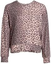 Sundry Animal Print Sweatshirt
