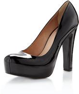 Pour la Victoire Irina II Patent Leather Platform Pump, Black