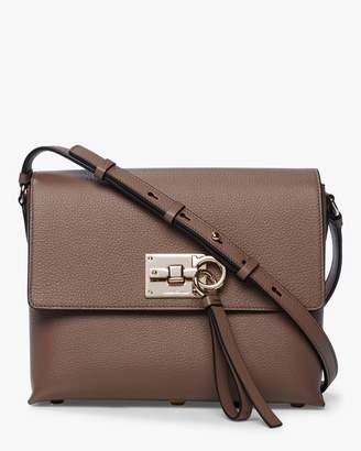 Salvatore Ferragamo The Studio Flap Grainy Leather Shoulder Bag
