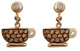 Francesca Villa 18 ct Yellow Gold Joie De Vivre Citrines and Diamond Earrings