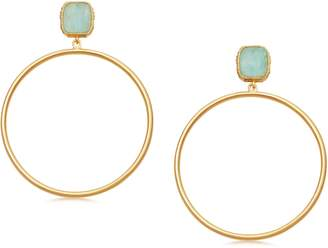 Missoma Lena Amazonite Frontal Hoop Earrings