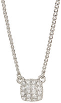 Givenchy Crystal Pave Square Pendant Necklace