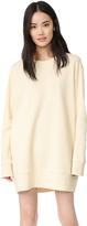 Maison Margiela Brushed Basic Sweatshirt Dress
