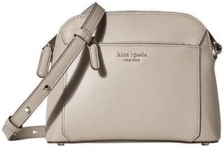 Kate Spade Louise Medium Dome Crossbody (Black) Handbags