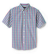 Classic Men's Big & Tall Traditional Fit Short Sleeve Seersucker Shirt-Green Biscay Stripe