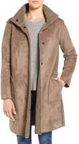 Velvet by Graham & Spencer Women's 'Lux' Reversible Faux Shearling Coat