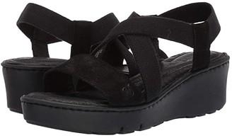 Børn Park (Black Jute Combo) Women's Wedge Shoes