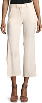 Haute Hippie Audrey Side-Slit Flared Pants