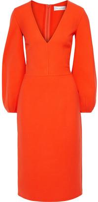 Oscar de la Renta Wool-blend Cady Dress