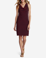 Eddie Bauer Women's Cowl Neck Dress - Stripe