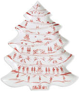Juliska Country Estate Winter Frolic Merry Making Tree Platter