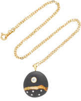Cvc Stones Bonzai 18K Gold Beach Stone and Diamond Necklace