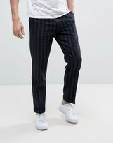 Sisley Cropped Pants In Slim Fit And Stripe