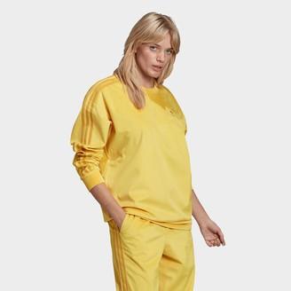 adidas Women's Velvet Corduroy Crew Sweatshirt
