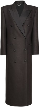 Magda Butrym Wool Double Breast Long Coat