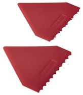 Cake Boss Triangle Icing Comb Spatula (Set of 2) Red
