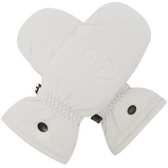 Goldbergh Hilja Logo-embossed Padded-leather Ski Mittens - White
